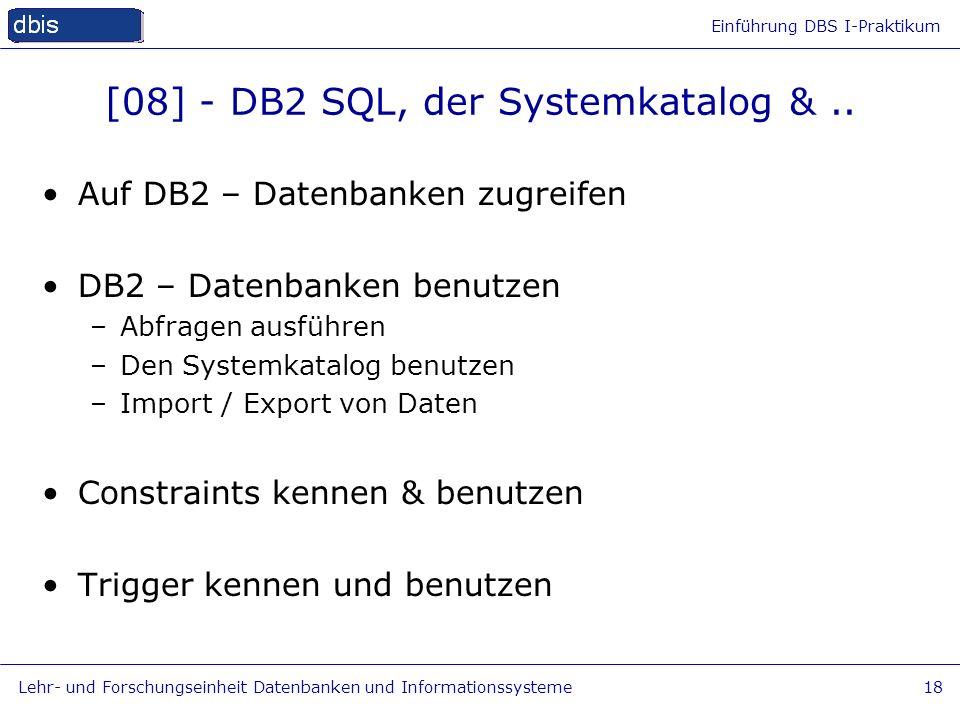 [08] - DB2 SQL, der Systemkatalog & ..